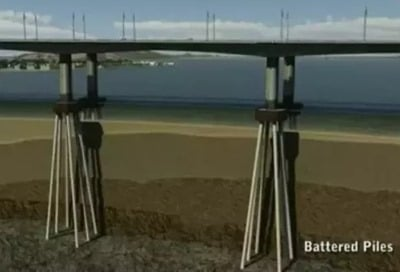 Bridge Foundation Over Water