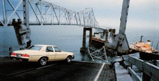 Failure of old Sunshine Skyway Bridge in 1980