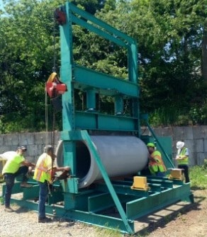 Three Edge Bearing Test on Sewer Pipes