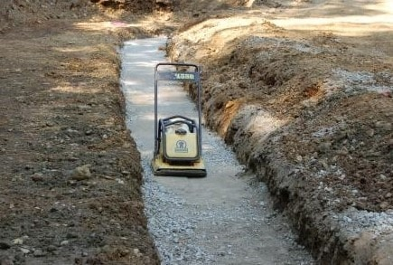 Retaining Wall Base Material Compaction