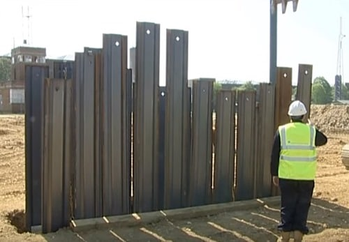 Install the Remaining Steel Trench Sheets