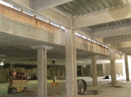 Application of Spray Cementitious Fire Protection System
