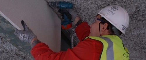 Installation of Boarded Fire Protection System