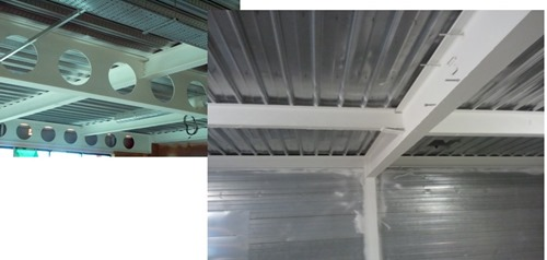 Intumescent Coating Applied for Both Regular and Cellular Steel Beams