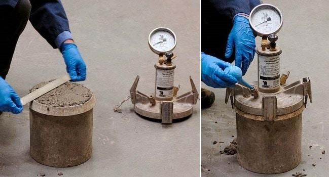 Measurement of Air Content in Concrete