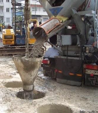 Concreting pile foundation