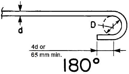 Standard hook, 180degree