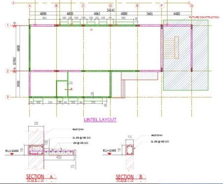 Lintel Beam Layout and Details