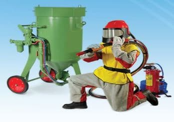 Required tools used by sandblasting machine operator