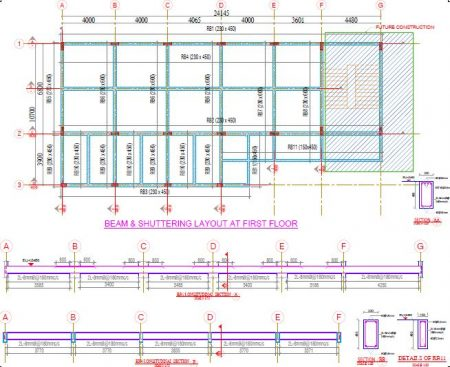 Roof Beam and Shuttering Layout