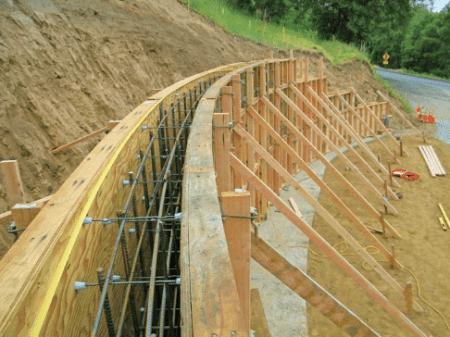 Wooden Concrete Forms; Image Courtesy:http://gatesconcreteforms.com