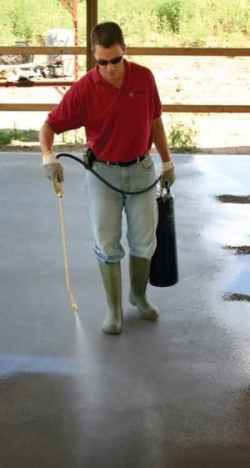 Apply Lithium Silicate for Concrete Surface
