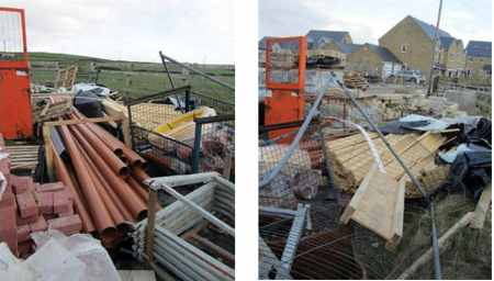 Overordering of Materials; Disorganized Construction Site