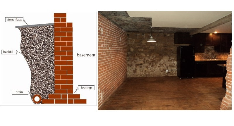 Brick Basement Wall Construction, How To Repair A Stone Basement Wall