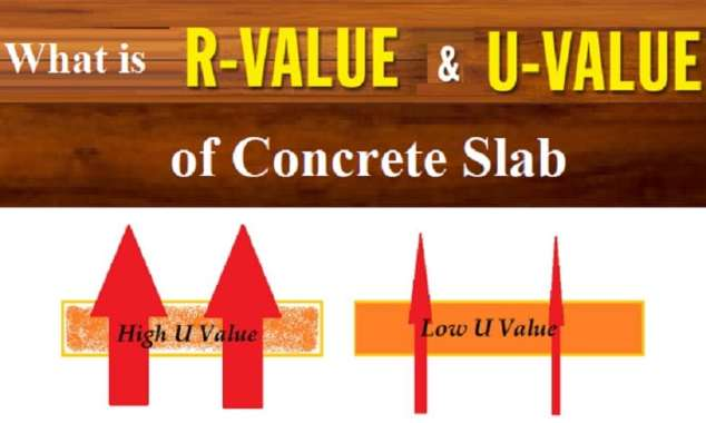 what is r value and u value of concrete slab