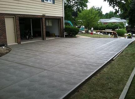Swirl Finish Create on Concrete Drive Way Surface