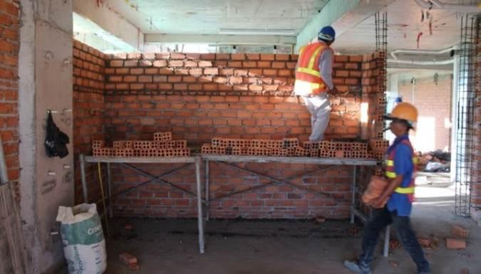Brick Work Procedure in Superstructure