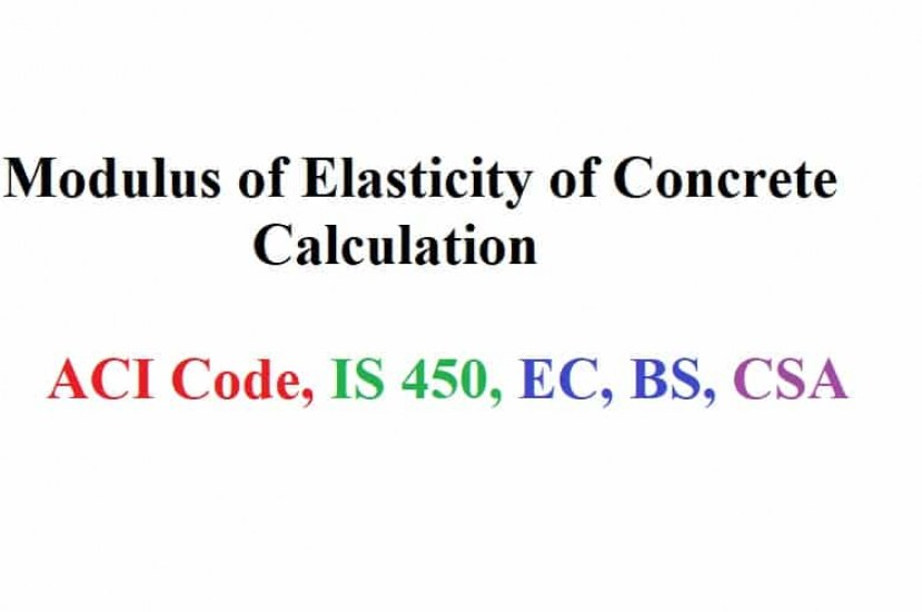 Modulus of Elasticity of Concrete- Determination and Importance in Design