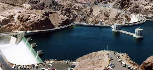 Side Channel Spillway of Hoover Dam, USA