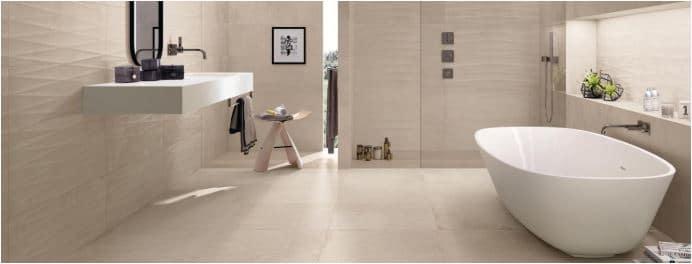 Ceramic Tile Flooring for Bathroom