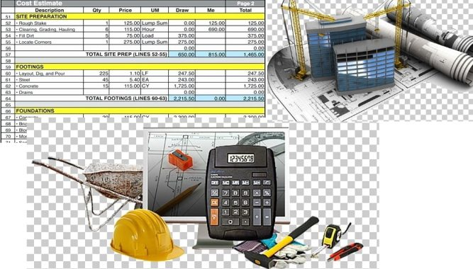 what are the requirements of good building construction estimator