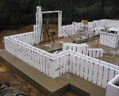 Insulated Form Concrete Construction Method