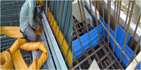 PVC Waterstop Installation; Image Courtesy: