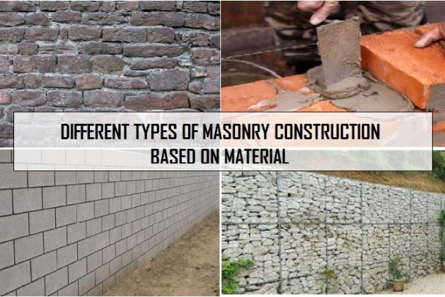 Types of Masonry Construction Based on Material