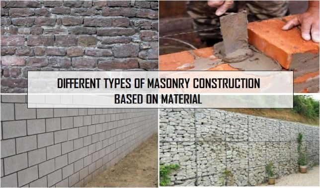 DIFFERENT TYPES OF MASONRY CONSTRUCTION