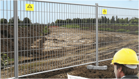 fencing in construction site