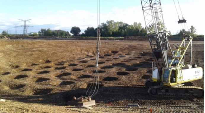 Dynamic Compaction of Soil