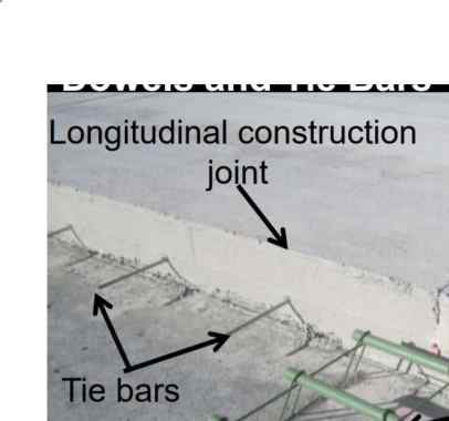 Tie Bars placed in Longitudinal Joints of Pavement