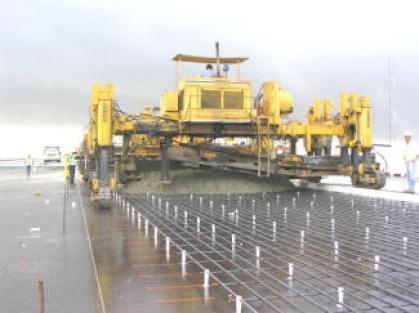 Construction of Continuously Reinforced Concrete Pavement