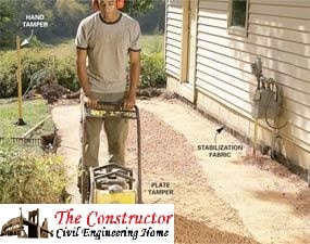 Compacting on excavated Soil