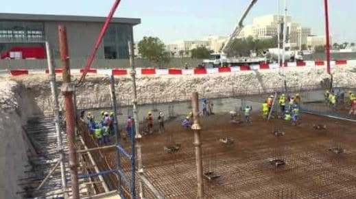 Concrete Pouring for Raft Foundation