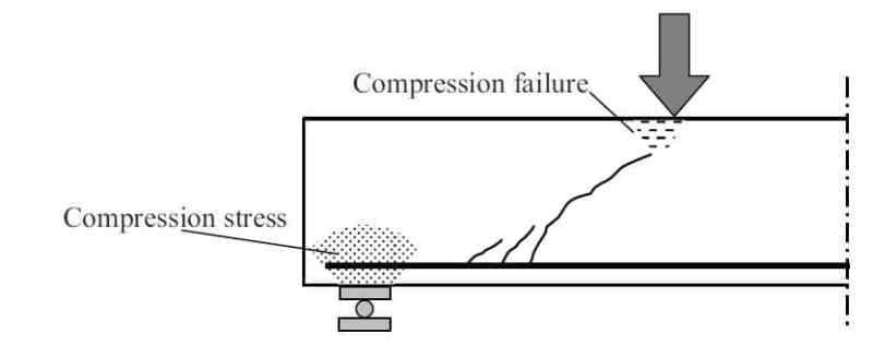 Shear Compression Failure of a Beam