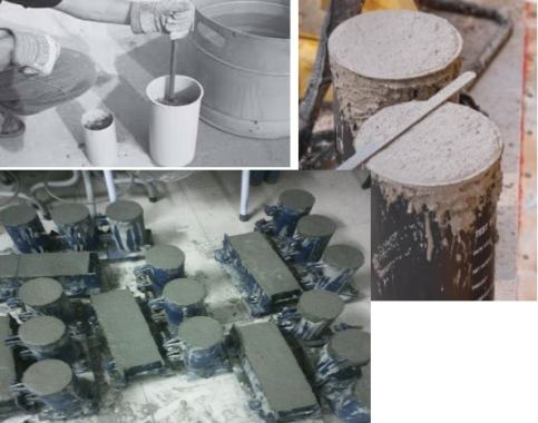Casting Cylinder and Beam Specimens in Field