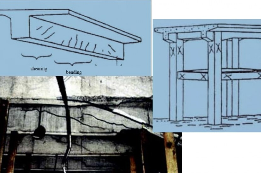 Sketches/Maps of Concrete Cracks Observed in Visual Inspections