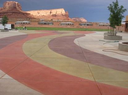 Colored Finish concrete