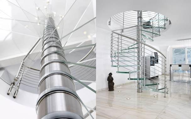 Spiral Glass Stair Case