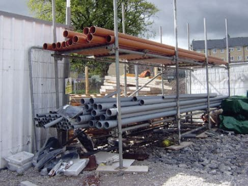 Provision of Good Site and Equipment to Store Materials