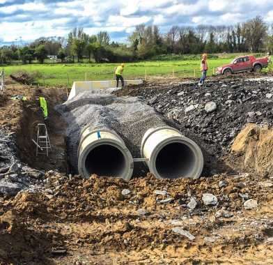 Backfilling in Pipe Culvert