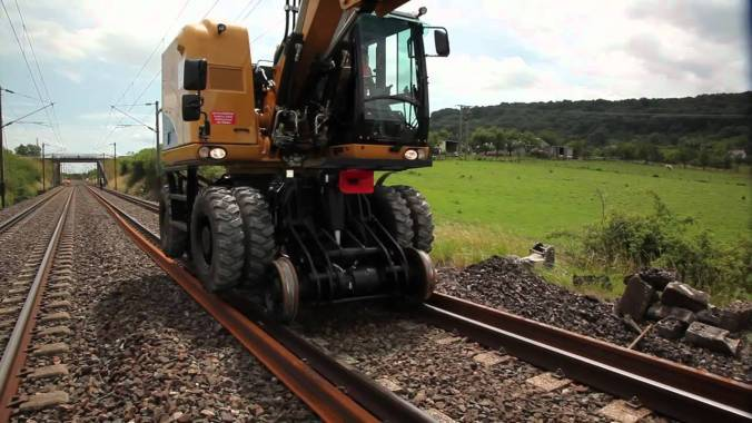 Excavator on rail