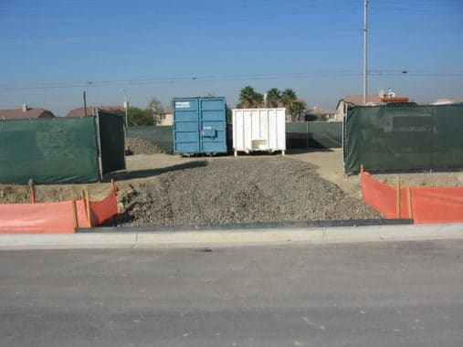 Construction Entrance-Image Courtesy: http://www.socalsandbags.com/