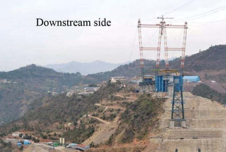 Slope stabilization at Chenab bridge