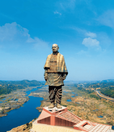 Statue of unity after the completion of construction works