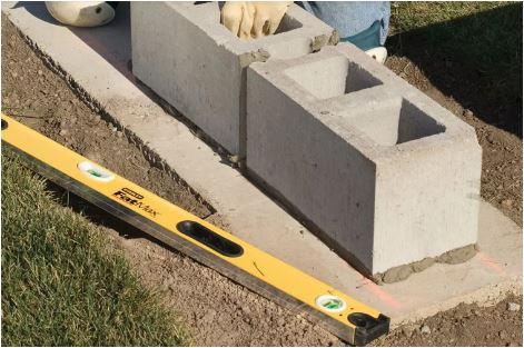 Laying Cinder Blocks over Footing