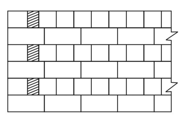 Brick masonry construction.