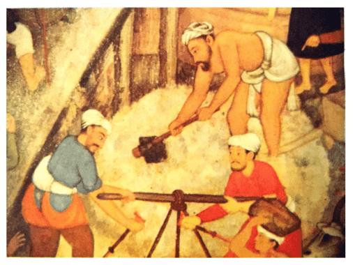 Mortar used in Taj Mahal