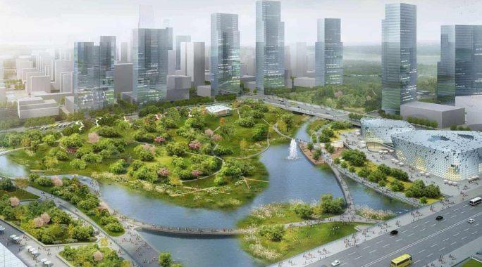 Sponge Cities Xinyuexie Park in China